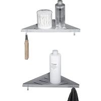 浴室收纳架洗漱台壁挂2层卫浴挂件置物架洗手间卫生间三角形