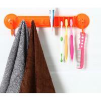 浴室置物架强力吸盘毛巾毛巾架牙刷架挂钩卫浴挂毛巾架挂架 绿色