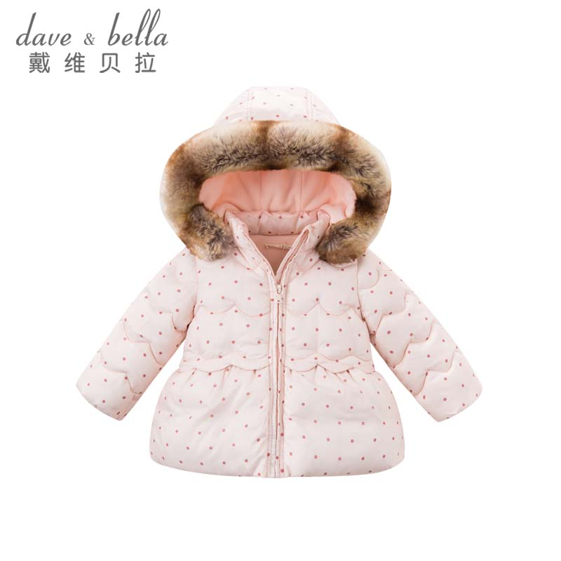 davebella戴维贝拉冬季女童棉衣 宝宝加厚棉袄DBZ6506戴维贝拉 每周二上新  0-6岁品质童装