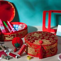 针线盒套装婚庆陪嫁结婚嫁妆红色针线包家用创意婚庆用品针线礼盒
