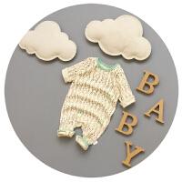 婴儿连体衣春秋夏新生儿衣服0-3-6-9-12月纯棉春季长袖韩版卡通潮