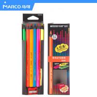 MARCO 马可 9205B-06cb 6色荧光彩铅 填色荧光彩色铅笔彩色铅笔绘画填色