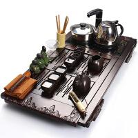 尚帝 四合一紫砂功夫茶具套装 电磁炉整套装 整套茶具实木茶盘WPFTHT6K