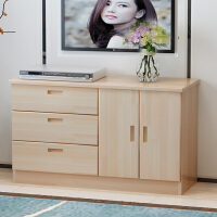 实木电视柜组合客厅现代简约松木卧室储物柜矮柜地柜边柜定制柜 组装