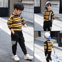 童装男童春装套装中大童儿童春秋季运动卫衣两件套韩版潮