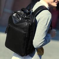 男士双肩包韩版潮包休闲背包男包包大中学生书包男式电脑包旅行包