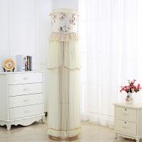 福存家居 美的格力圆柱空调罩柜机圆形空调防尘套开机不取柜式蕾丝