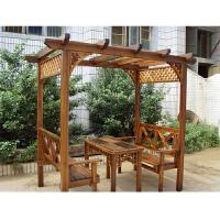 凉亭户外桌椅家具别墅庭院实木室外花园简易亭子木葡萄架木屋