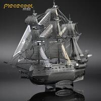 金属拼装模型手工diy创意玩具黑珍珠海盗船3d立体拼图