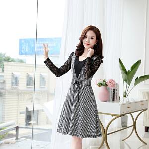 秋季连衣裙春季2018新款女韩版中长款气质秋装40岁女人长袖裙子潮