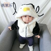 婴儿外套加厚童装2017新款宝宝1岁3个月新生儿上衣童冬装