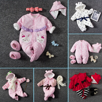 婴儿连体衣服新生儿衣服冬季0岁3月棉衣冬装冬季外出满月服
