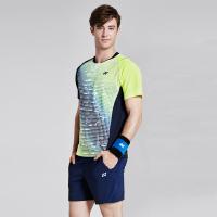 2018韩国yy新款羽毛球服套装男女款短袖T恤 男女款透气速干网球服