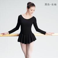 时尚舞蹈练功服成人女长袖芭蕾连衣裙连体形体服教师裙体操服