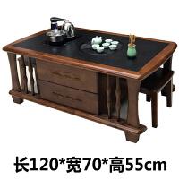 实木功夫茶几电视柜组合全自动上水带茶具喝茶桌子套装一体泡茶台 整装