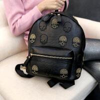 双肩包背包女韩版个性潮流酷骷髅头星星旅行书包