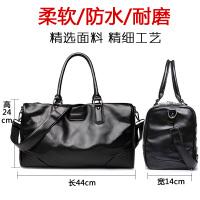 新款男士旅行包商务手提包健身包登机袋短途旅游包出差行李包大容量 黑色 6056黑色 中