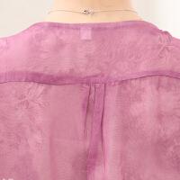 �����b夏季雪�衫新款短袖40-50�q大�a��松中老年女�bT恤上衣服薄 粉�t色