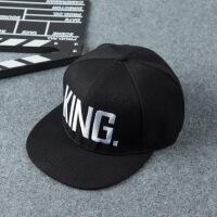 情侣帽子 KingQueen刺绣字母平沿帽男女士棒球帽 可调节
