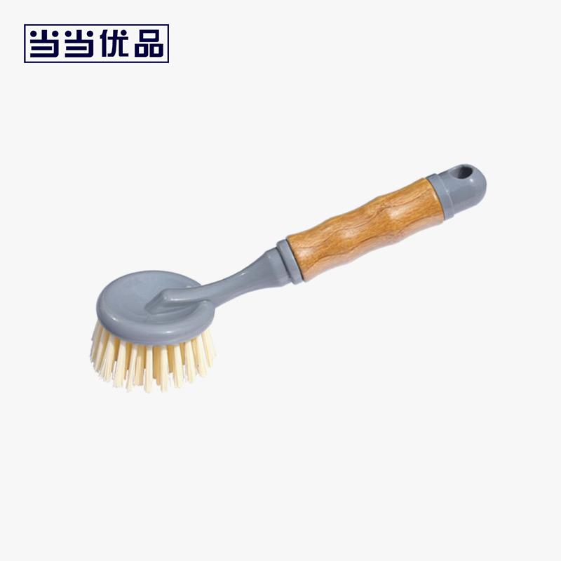 当当优品 竹柄碟刷锅刷 厨房用刷 竹柄刷子锅碟碗刷当当自营 细密毛刷 清洁力强 柔韧耐用 天然竹手柄 手感好不打滑