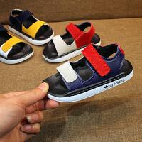 夏季男童凉鞋儿童沙滩鞋软底宝宝鞋小童鞋小孩鞋子男