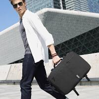 双肩包男士商务背包多功能15.6寸电脑包大容量出差旅行手提行李包SN9428 典雅黑