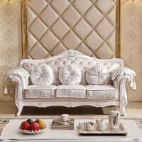 欧式布艺沙发123组合简欧实木具三人双人美容院小户型可拆洗