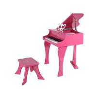 Hape30键钢琴 粉色 黑色 3岁以上音乐玩具艺术创意婴幼玩具音乐玩具