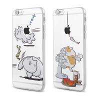 【全国包邮】hidog 苹果iPhone6s手机壳4.7卡通猫咪浮雕透明iPhone6保护套软胶