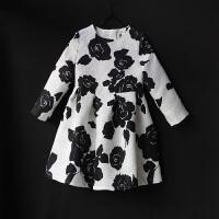 新款秋冬女童长袖连衣裙亲子装母女装修身显瘦童装儿童公主裙