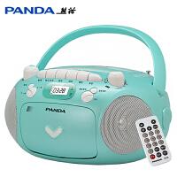 熊猫CD-209 CD机光盘播放机复读磁带机录音机英语教学用学习机MP3播放器收音机转录卡带卡式U盘USB插卡TF卡