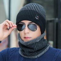 帽子男保暖防风男士毛线帽户外加厚骑车针织帽时尚棉帽潮