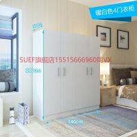 卧室衣柜简约易现代经济型组合装实木板式出租房省空间衣橱