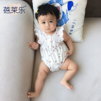 婴儿3个月春季爬爬服1岁宝宝三角哈衣新生儿外出衣服新年
