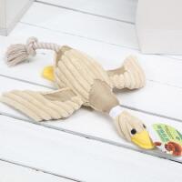 麦豆宠物玩具狗狗发声玩具 条绒鸭子响声玩具猫玩具 尖叫鸭狗狗玩具 2003002
