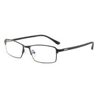 防辐射眼镜男防蓝光电脑镜无度数护目平光镜商务近视眼镜合金半框
