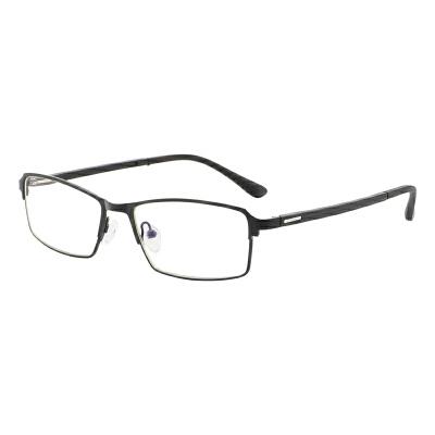 防辐射眼镜男防蓝光电脑镜无度数护目平光镜商务近视眼镜合金半框 品质保证 售后无忧 支持货到付款