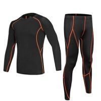 秋冬季加绒儿童紧身衣套装男运动速干弹力篮球训练跑步打底健身服