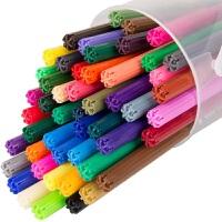 包邮得力水彩笔50色/桶 无毒儿童绘画笔6988 色彩鲜艳书写不断水