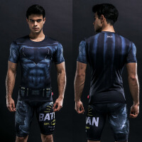 20181026173153530漫威超人蜘蛛侠短袖紧身衣T恤男士速干透气篮球健身服运动弹力薄