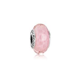 PANDORA潘多拉 粉色切割面琉璃925银琉璃串饰791068