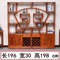 博古架实木多宝阁中式仿古家具榆木茶叶展示陈列柜客厅隔断置物架 1米以下