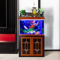 大中型流水鱼缸鱼缸水族箱免换水客厅风水招财生态家用底滤鱼缸