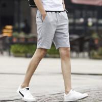 夏季男士新款四分休闲短裤子韩版潮流百搭休闲薄款透气短裤子男裤