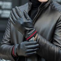 时尚手套男士冬季骑行摩托车加绒加厚棉手套冬天保暖防寒风骑车皮手套
