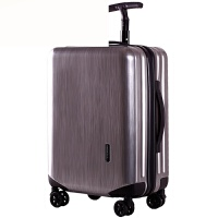拉杆箱万向轮26旅行箱女24行李箱28男皮箱子20寸登机箱单杆 拉丝纹深灰色 22寸