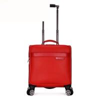 18寸拉杆箱万向轮女士行李箱空姐手提登机箱旅行箱男士小皮箱 红色 18寸