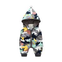 婴儿连体衣服宝宝新生儿季01岁6个月春款无袖睡衣平角哈衣