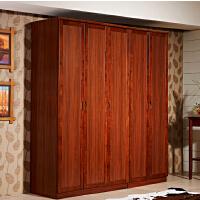 御品工匠 中式实木简易衣柜 二门三门五门组合衣柜 现代中式实木大衣柜K0213