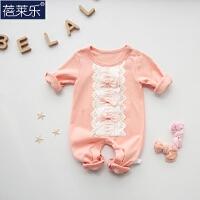婴儿连体衣服宝宝新生儿衣服0岁3个月季春装季冬季长袖新年